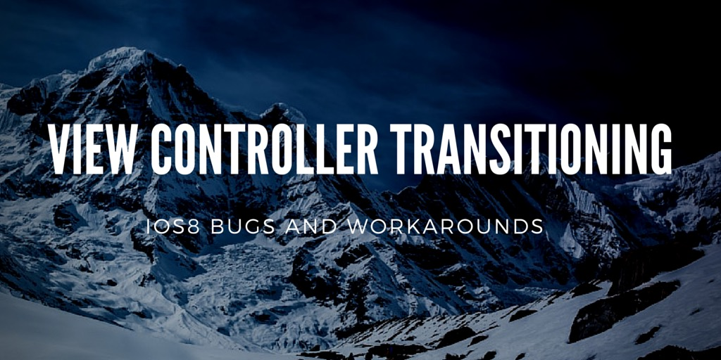 Transitioning bugs